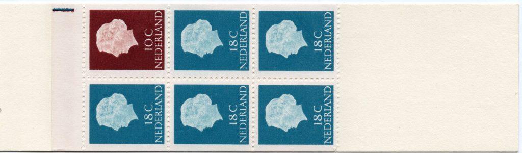 Pb3yD met registerstrepen paars, bruin en blauw.