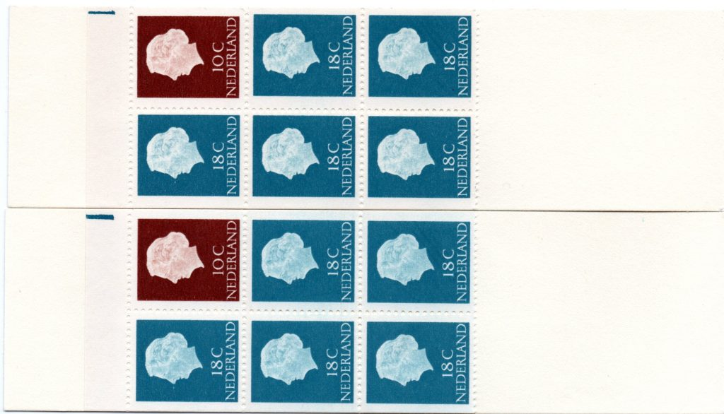 Pb3yW met registerstreep blauw smal ( boven ) en blauw breed ( onder ).