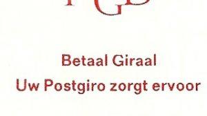 "Pb9b met plaatfout in T; ""platte G "" in Giraal."
