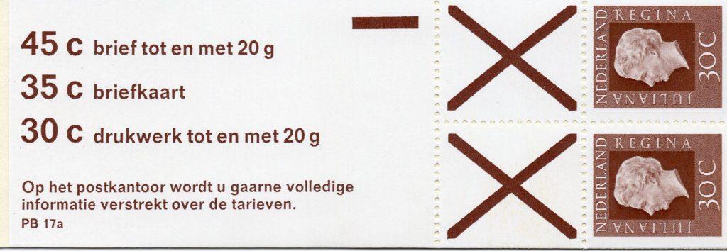 Pb17a2 met B/druk en XBs,